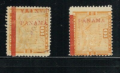 "1904 2 ""panama""s @ Right Side, 2Nd Shift 1 Side - 2 Errors -   Vf"