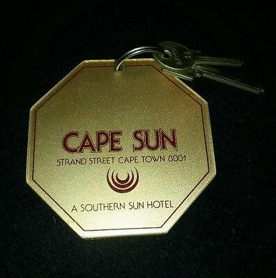 Rare! Cape Sun, A,southern Hotel Key And Fob, Cape Town #1206 2 Keys