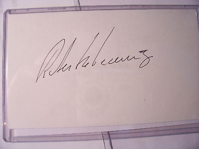 Roberto Devicenzo Autographed Index Card  (Deceased)