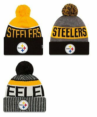 Pittsburgh Steelers Cuffed Beanie Winter Knit Cap Hat NFL Authentic