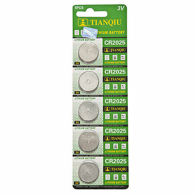 5pcs/card CR2025 3v 220mah lithium Battery button cell/coin for calculator