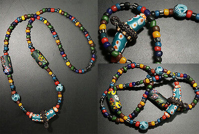 vintage antique collectible old stone beads necklace Tarawadee handmade 1hook