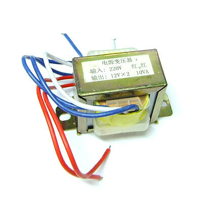 220V 50Hz Input 10VA AC Double 12V Output Electric Part Power Transformer s238