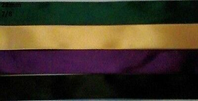 4 metres, MIXED SATIN RIBBON, 22mm, Satin, 7/8, Hair, Sewing, Gift Wrapping