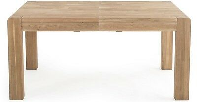 Cairo Contemporary Rustic Style American Oak Extending  Dining Table
