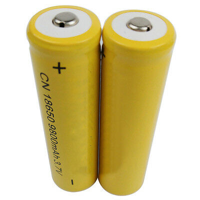 2X 18650 9800mAh Li-ion 3.7V Rechargeable Battery For Flashlight Torch RC Sweet