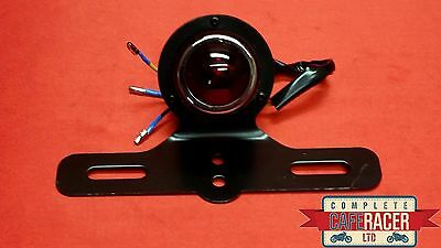 (L10) Cafe Racer Rear Light Red Stop Tail & Number Plate Light Bullet Dome Spot