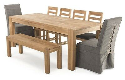 Cairo Dining Room Furniture - Extending Dining Table with 4 Dining Chairs Set