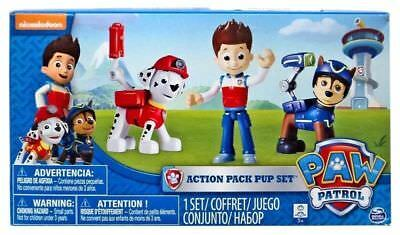 Paw Patrol Action Pack Pup Set 3pk Spy Chase, Ryder and Marshall