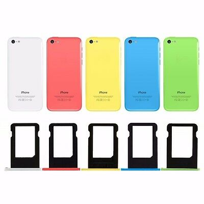 Replacement Sim Card Tray Slot Holder Part For Apple iPhone 5c - All Colour