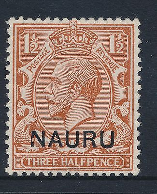 1923 NAURU 1½d RED BROWN SG3 MINT MLH DAMAGED N (at left)