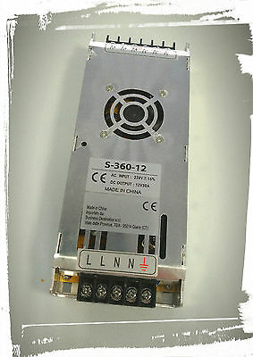 Alimentatore switching 12V 30A 360W slim - in ac 220V out DC 12V
