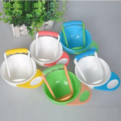 Toddler Baby Grinding Food Bowl Kids Handmade Grinding Food PP Dishes Mill