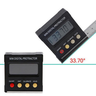 360˚ Mini Cube Digital Gauge Magnetic Base Angle Protractor Level Inclinometer