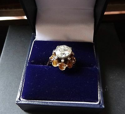 Antqiue Victorian Rose Cut Diamond Gold Engagement Ring