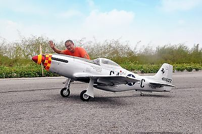 68inch ARF P-51  Mustang 20CC Gas/Electric Amphibious  Speed leader RC Aircraft