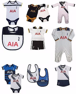 Tottenham Hotspur FC Football Baby Boys Kit Sleepsuit Bibs Bodyvest 0 - 18 Month