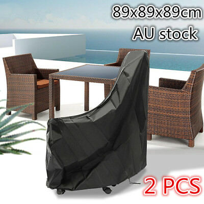 2X Waterproof Chair Cover Outdoor Patio Garden Furniture Protector 89x89x89cm AU