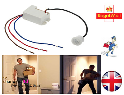 360 Degree Recessed PIR Sensor Detector Ceiling Occupancy Motion Light Switch UK