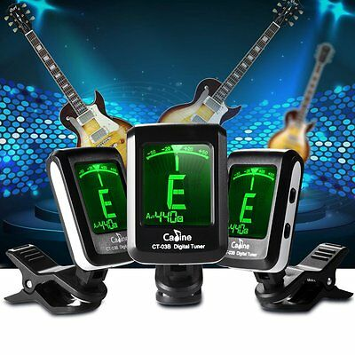 Clip-on Electronic Digital Tuner Chromatic for Guitar Bass Violin Ukulele Tuning
