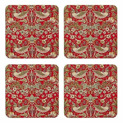 Nostalgic Ceramics - Strawberry Thief Coasters 10.5x10.5cm Set of 4