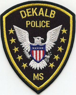 Dekalb Mississippi Ms Police Patch