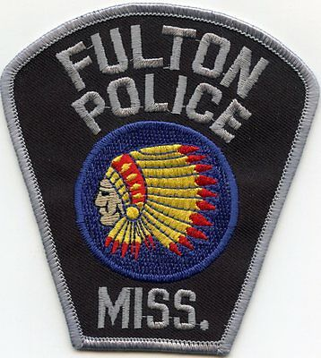 FULTON MISSISSIPPI MS indian POLICE PATCH