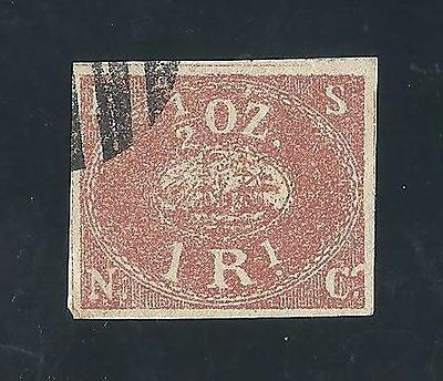 RARE STAMP PEROU 1857 Pacific Steam Navigation Co 1/2 OZ  1 R