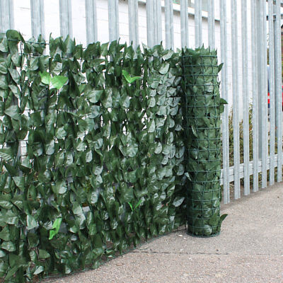 Artificial Ivy Leaf Hedge Garden Fence Wall Balcony Privacy Screening On a Roll