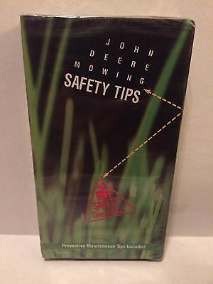 John Deere Mowing Safety Tips & PREVENTIVE MAINTENANCE TIPS VHS / NEW / SEALED