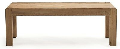 Cairo Wooden Contemporary White American Solid Oak Bench for Dining Room