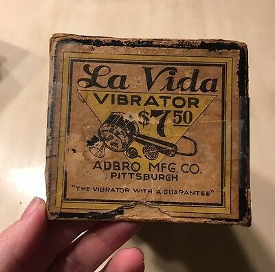 "1916 (Patent Date) LA VIDA VIBRATOR ""To Cure Women's Hysterical Symptoms"""
