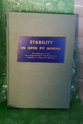 Vintage Copy Stability In Open Pit Mining Proceedings Of The First International