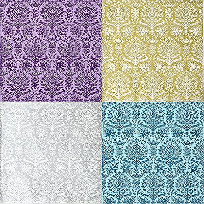 4x Different Paper Napkins - Fine Damask color mix- for Party, Decoupage Craft