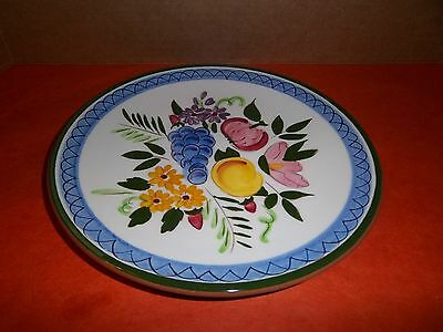 "Vintage Stangl Pottery 8 1/4"" Salad Plate Fruit and Flowers"