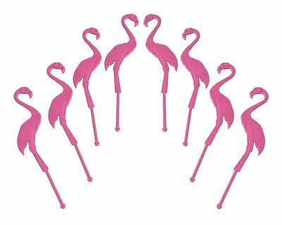 NEW - 8 count - Flamingo Swizzle Sticks & Party Picks - FREE SHIPPING
