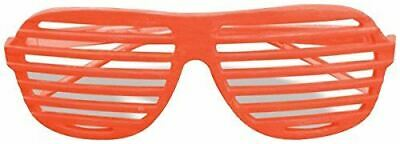 80/'S Neon Slot Shutter Glasses Sunglasses Slotted Eyewear Costume Accessory