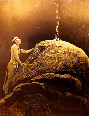"Orotone ""Signal Fire To The Mountain God"" Signed Edward Curtis!"