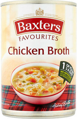 Baxters Favourites Chicken Broth Soup   3 x 400g