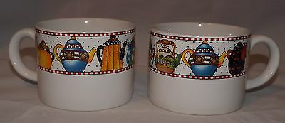 MARY ENGELBREIT Sakura Afternoon Tea 1994 Pattern MUGS CUPS Teapots TEA POTS