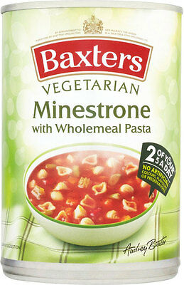 Baxters Vegetarian Minestrone & Wholemeal Pasta Soup  3 x 400g