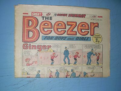 Beezer issue 789 dated February 27 1971
