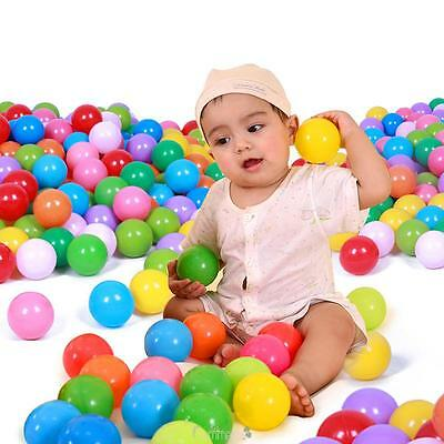 25/50/100XColorful Ball Soft Plastic Ocean Ball Funny Pool Baby Kid Swim Pit Toy