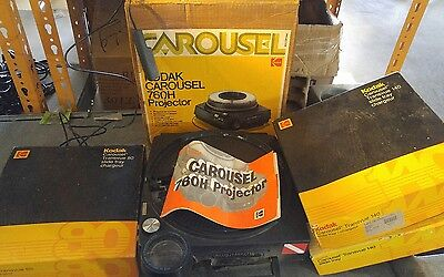 Kodak Carousel 760H Projector with remote/original box..3 slide trays.