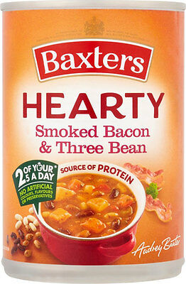 Baxters Hearty Smoked Bacon & Three Bean Soup  3 x 400g