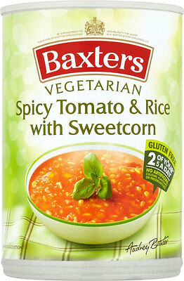 Baxters Vegetarian Spicy Tomato & Rice with Sweetcorn Soup  3 x 400g