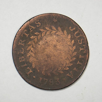 1783 Nova Constellatio Pointed Rays Colonial Copper Cent Coin