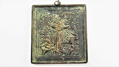 A Rare Handmade Russian Chest Icon - Religious Antique