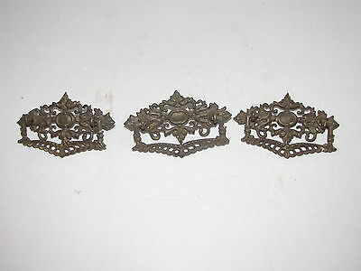 Vintage Drawer Pulls Set Of 3