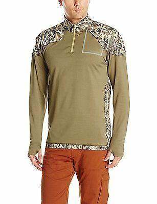 Yukon Gear Mens 1/4 Zip Midlayer Technical Fleece Hunting Hiking Camping Fishing